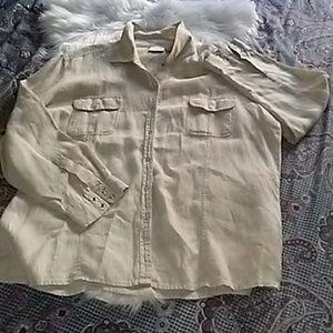 Chico's linen button-down blouse